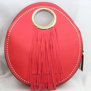 Handbags - Leather handbag with fringe